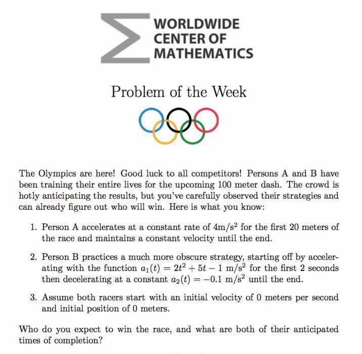 Olympics Maths